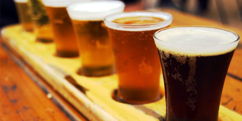 varie tipologie di birra chiara e scura